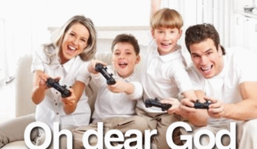 Image of Family Playing Game Having Fun