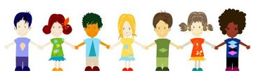 Group of Kids Holding Hands