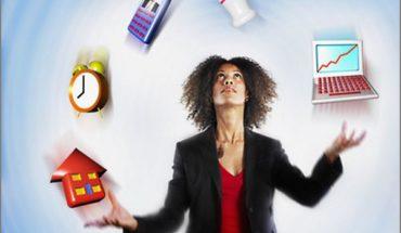 Businesswoman Juggling Responsibility