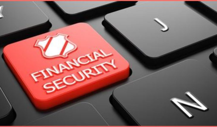 Financial Security on Red Button on Black Computer Keyboard.