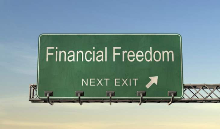 Image of sign Road to Financial Freedom